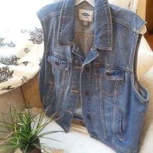 OLD Navy DENIM Jean VEST SZ XL